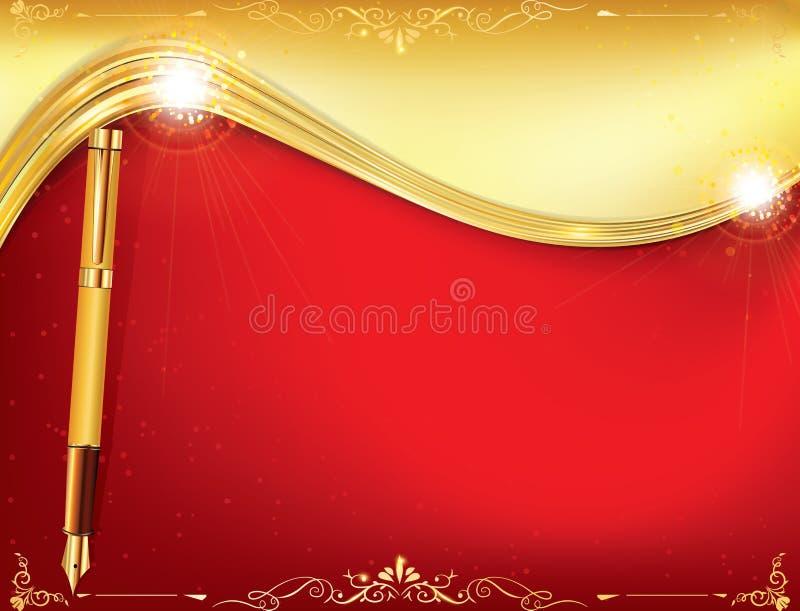 Fondo rosso di celebrazione per qualsiasi occasione illustrazione vettoriale