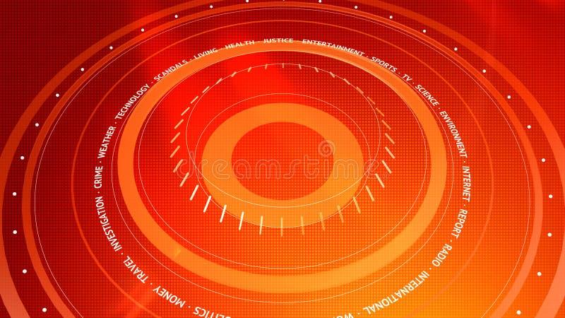 Fondo rosso di Digital di notizie grafiche illustrazione vettoriale