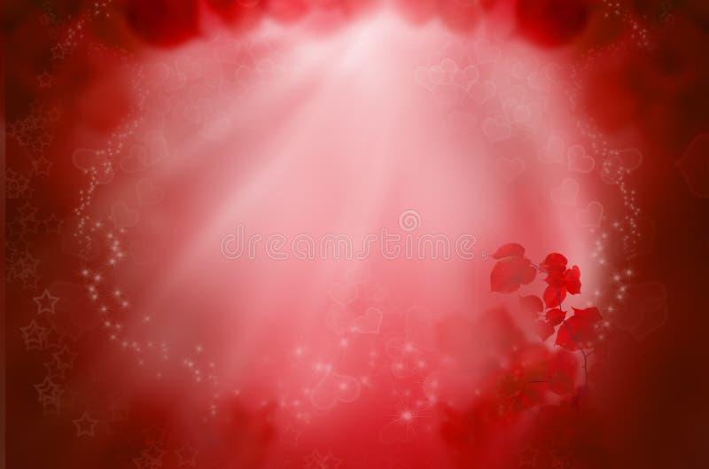 Fondo rosso di fantasia per i sogni di amore illustrazione di stock