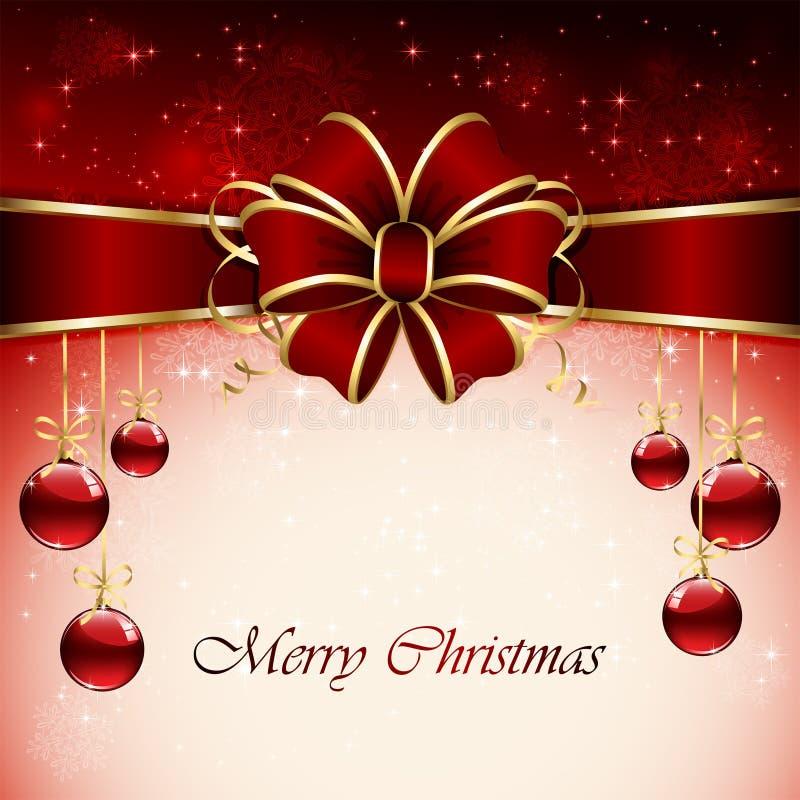 Download Fondo rosso di Natale illustrazione vettoriale. Illustrazione di regalo - 30831282