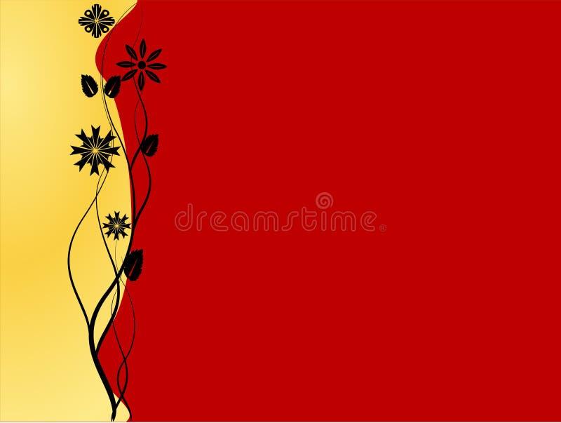 Fondo rosso e dorato immagine stock libera da diritti