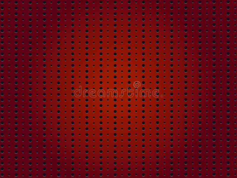 Fondo rosso perforato fotografia stock libera da diritti