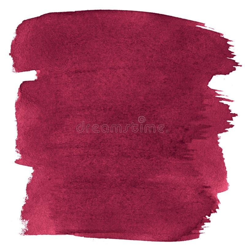 Fondo rosso persiano dell'estratto dell'acquerello, macchia, pittura della spruzzata, macchia, divorzio Pitture d'annata per prog illustrazione vettoriale
