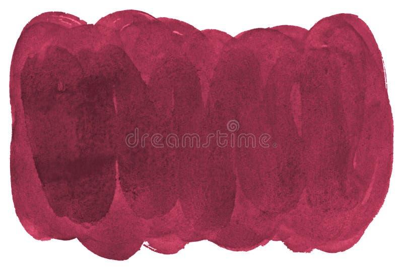 Fondo rosso persiano dell'estratto dell'acquerello, macchia, pittura della spruzzata, macchia, divorzio Pitture d'annata per prog royalty illustrazione gratis