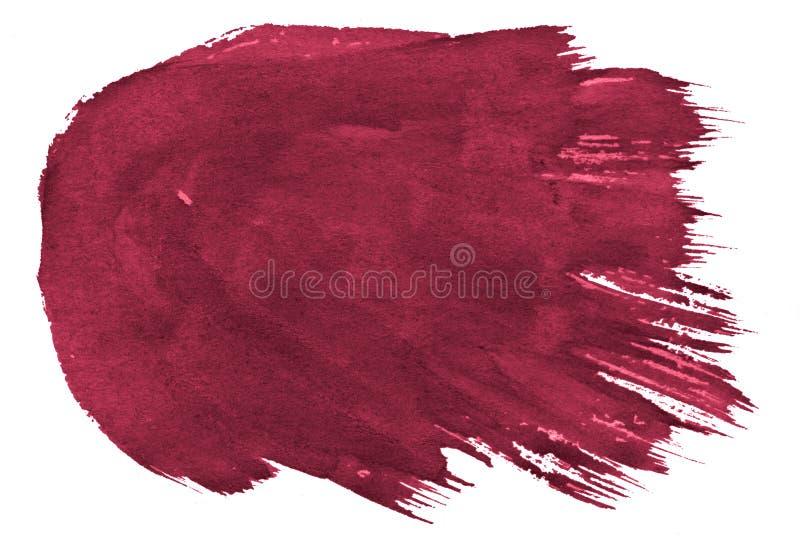Fondo rosso persiano dell'estratto dell'acquerello, macchia, pittura della spruzzata, macchia, divorzio Pitture d'annata per prog illustrazione di stock