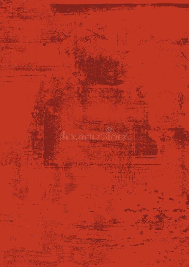 Fondo rosso scuro di lerciume del graffio, marrone, arrugginito urbano Struttura di emergenza per la vostra progettazione Fondo u royalty illustrazione gratis