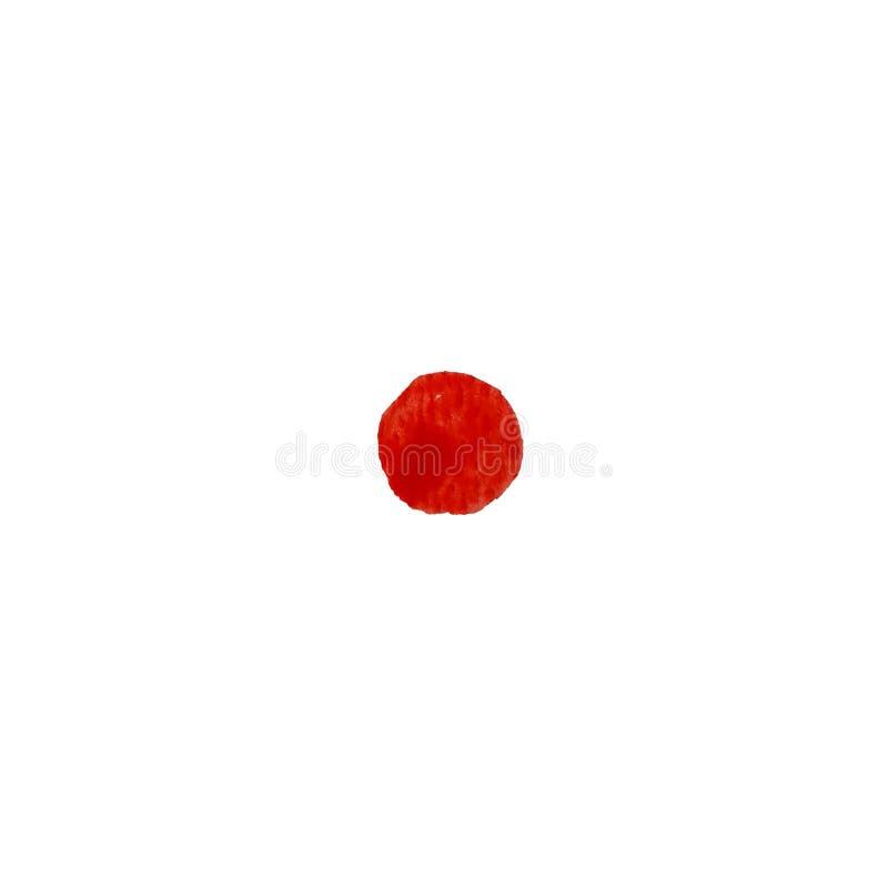 Fondo rosso variopinto dell'estratto del cerchio dell'acquerello illustrazione di stock