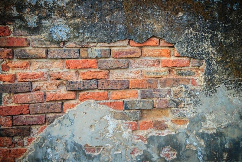 Fondo rotto storico Grungy del muro di mattoni di estate soleggiata d immagini stock libere da diritti