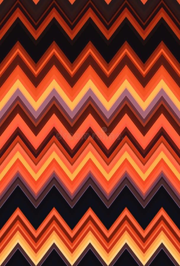 Fondo rubicondo di arte del rosse di Chevron di zigzag dell'estratto senza cuciture rosso del modello, tendenze illustrazione di stock