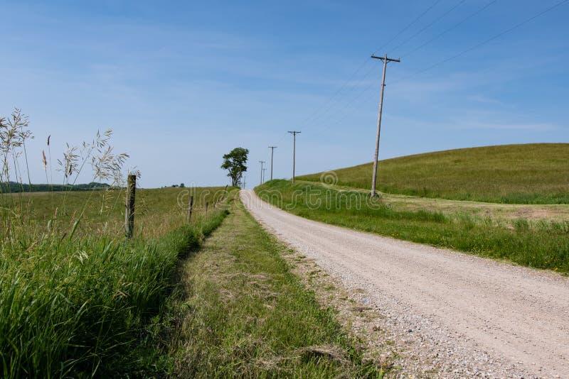Fondo rurale della strada campestre fotografia stock libera da diritti