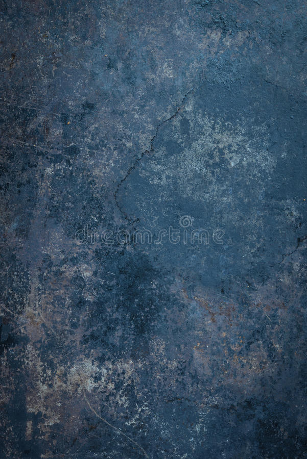 Fondo rustico blu del metallo fotografia stock libera da diritti