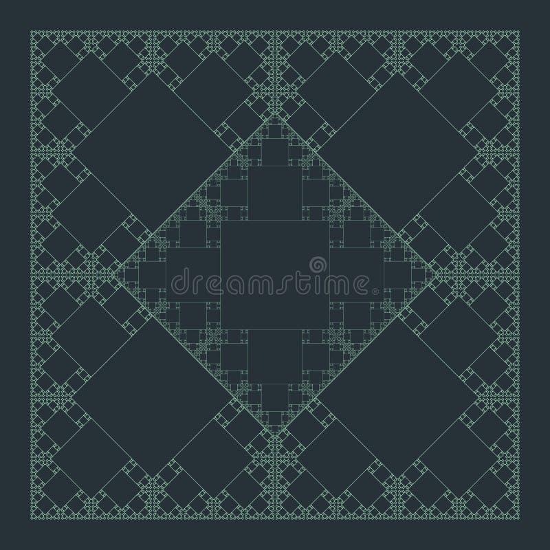 Fondo sacro cuadrado de la estructura del fractal de la geometría stock de ilustración