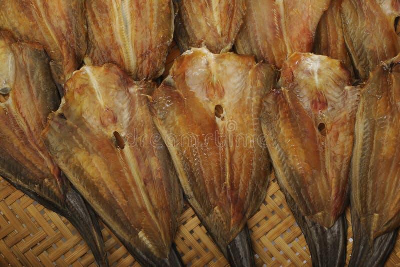 Fondo salado secado de los pescados foto de archivo