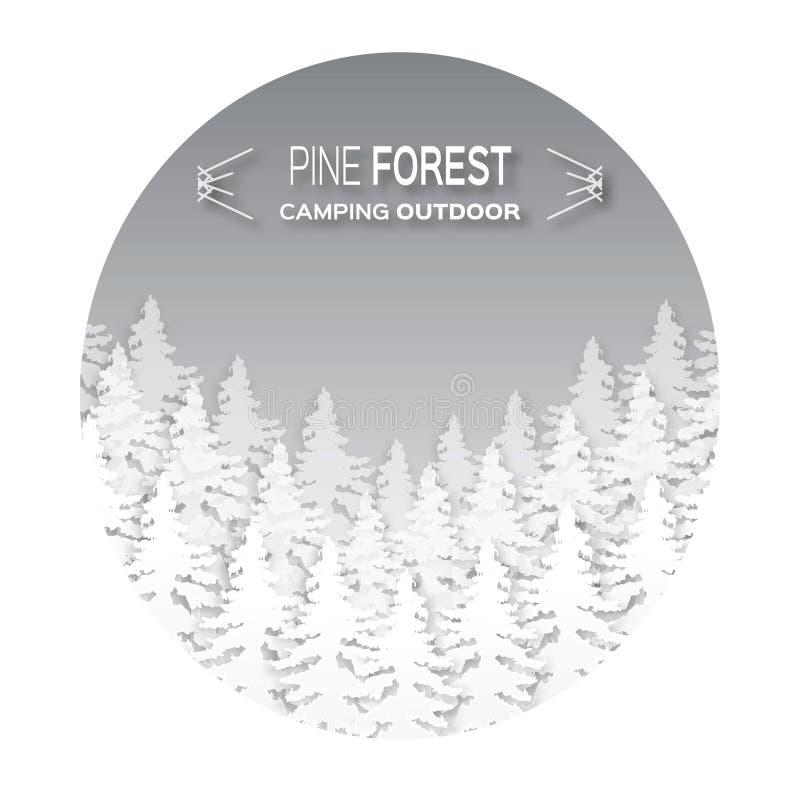 Fondo salvaje del bosque libre illustration
