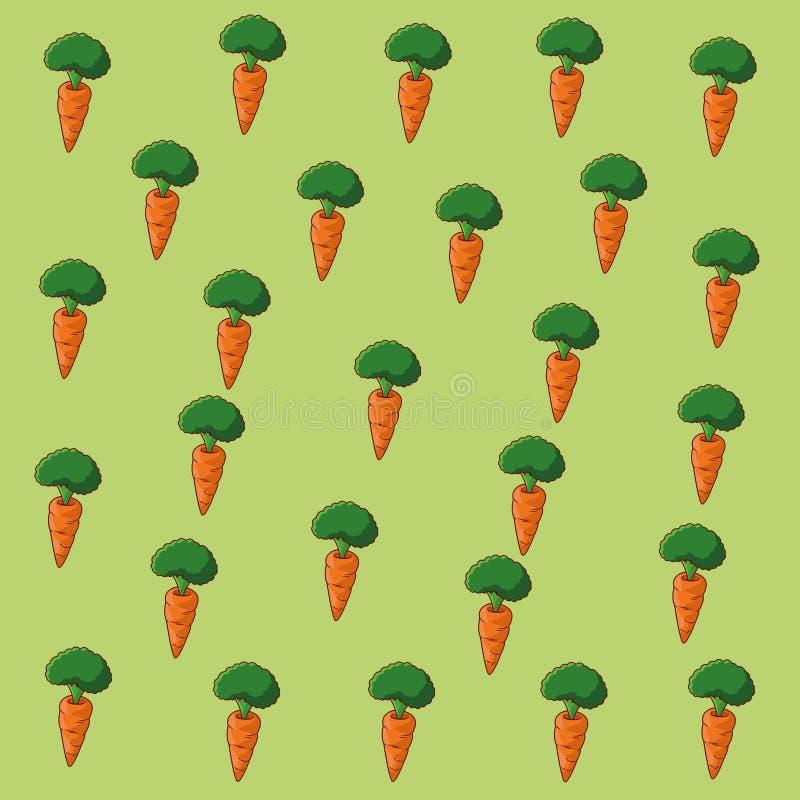 Fondo sano di verdure del mosaico dell'alimento della carota illustrazione di stock