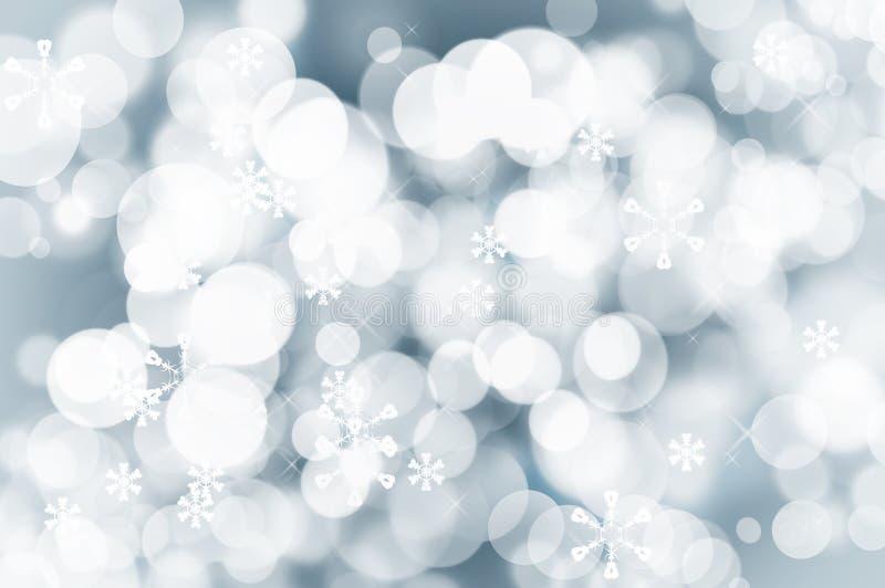 Fondo scintillante di Natale con le luci di fascino immagini stock