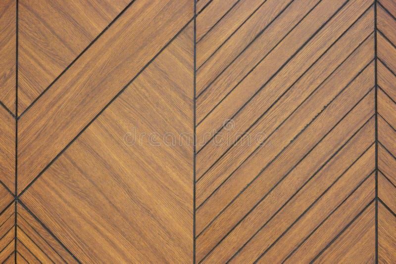 Fondo scolpito di legno di struttura del modello di Brown immagine stock