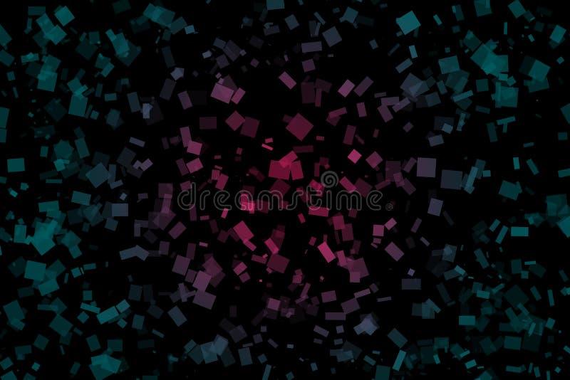 Fondo scuro astratto fatto dei quadrati con la luce di pendenza fotografia stock