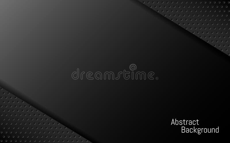 Fondo scuro Contesto geometrico astratto per l'aletta di filatoio, insegna, manifesto Modello nero elegante Strati scuri di pende immagine stock libera da diritti