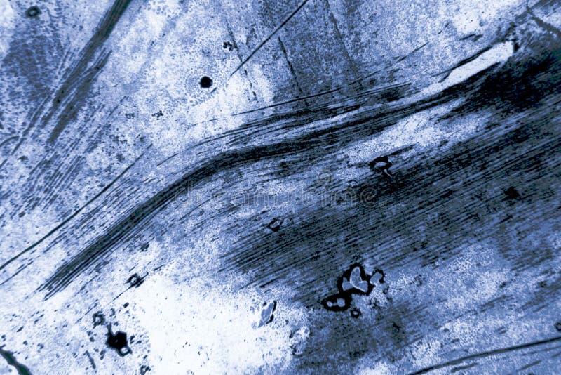 Fondo scuro dei colpi del pennello dei blu navy decorativi di lerciume dell'estratto fotografia stock