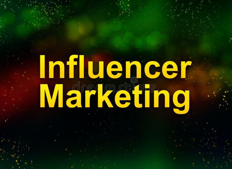 Fondo scuro del bokeh dell'estratto di vendita di Influencer illustrazione vettoriale