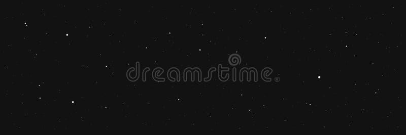 Fondo scuro della stella di notte illustrazione di stock