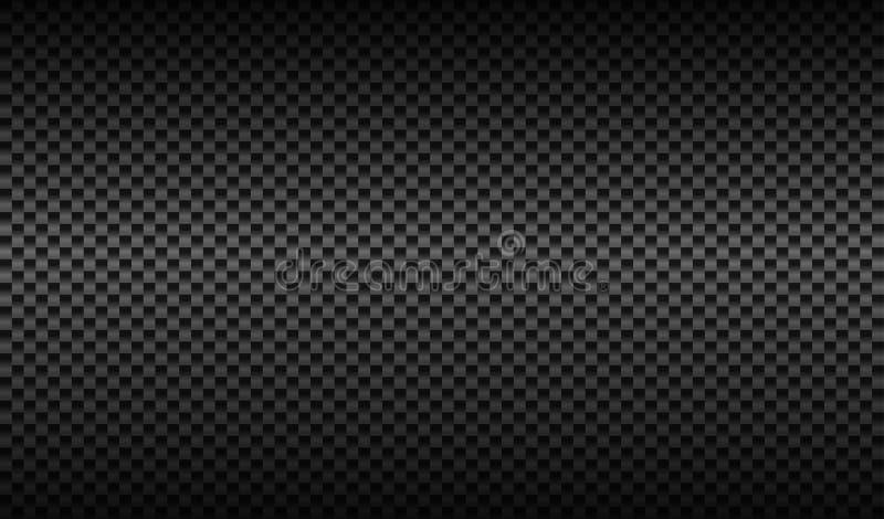 Fondo scuro verticale di struttura della fibra del carbonio illustrazione di stock