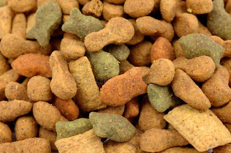 Fondo secado gato del alimento imagen de archivo libre de regalías