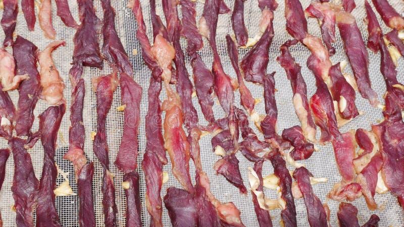 Fondo seco de la carne roja foto de archivo