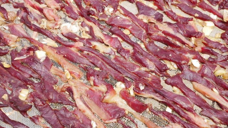 Fondo seco de la carne roja imagen de archivo