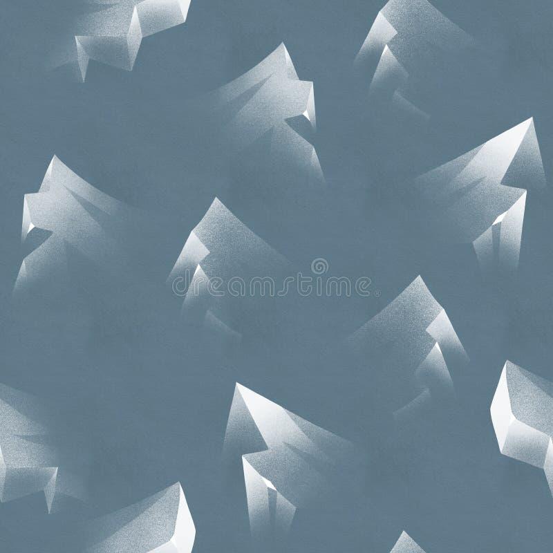 Fondo semplice di inverno di ghiaccio Modello blu senza cuciture dell'iceberg royalty illustrazione gratis