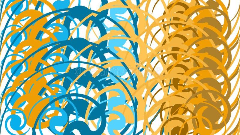 Fondo semplice, una struttura delle linee luminose circolari differenti di estratto colorato multi minimalistic, cerchi, ovali e  illustrazione vettoriale