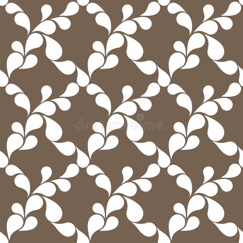 Fondo senza cuciture astratto del modello con i petali Illustrazione di vettore royalty illustrazione gratis