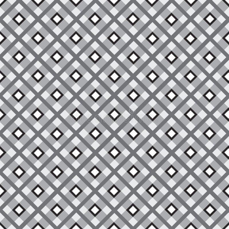 Fondo senza cuciture in bianco e nero. illustrazione vettoriale