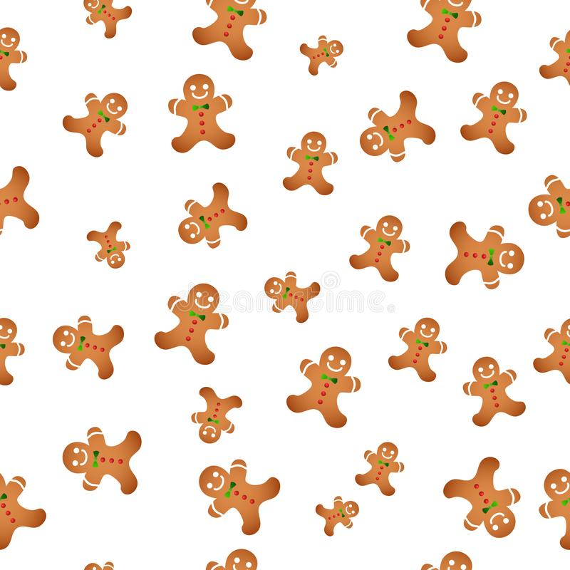 Fondo senza cuciture con i biscotti di Natale Biscotti di natale Illustrazione di vettore royalty illustrazione gratis