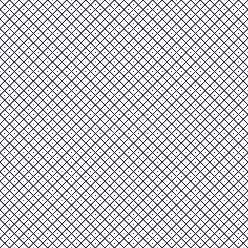 Fondo senza cuciture con i piccoli punti, modello astratto geometrico di griglia di vettore illustrazione vettoriale