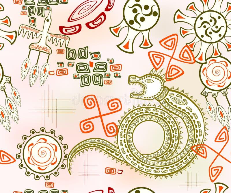 Fondo senza cuciture con il drago dorato Illustrazione di vettore EPS10 illustrazione vettoriale