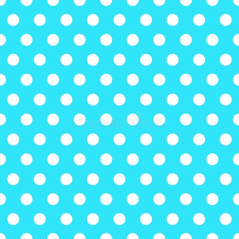 Fondo senza cuciture con il modello di pois Tessuto del pois Retro reticolo Struttura bianca alla moda casuale del pois royalty illustrazione gratis