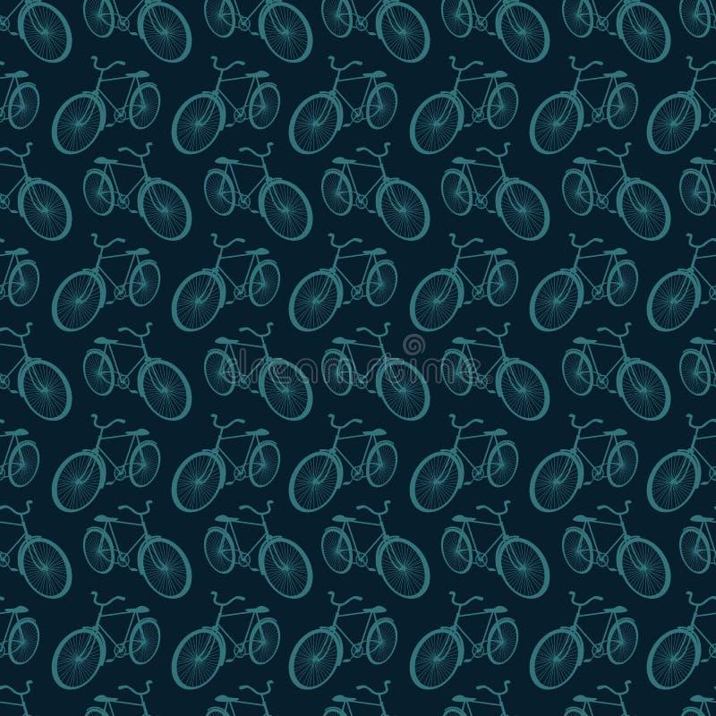 Fondo senza cuciture con le biciclette illustrazione vettoriale
