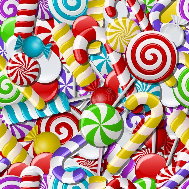 Fondo senza cuciture con le caramelle variopinte royalty illustrazione gratis