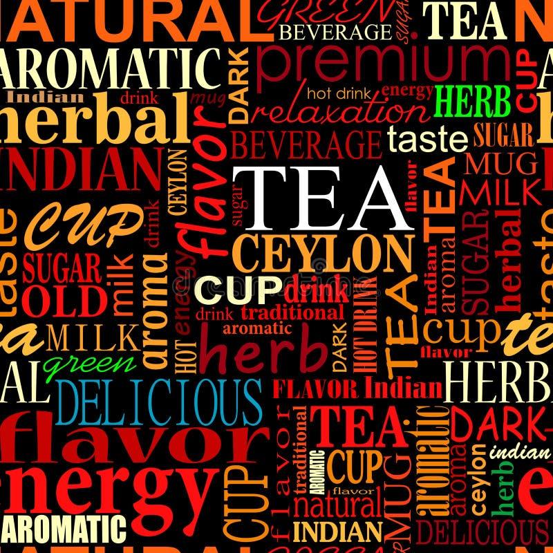 Fondo senza cuciture con le etichette del tè royalty illustrazione gratis