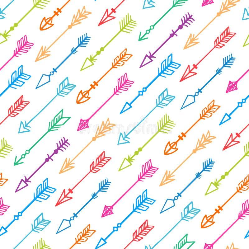 Fondo senza cuciture con le frecce variopinte - 2 illustrazione vettoriale
