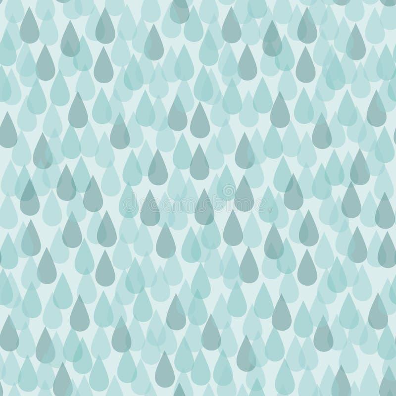 Fondo senza cuciture con le gocce di pioggia illustrazione vettoriale