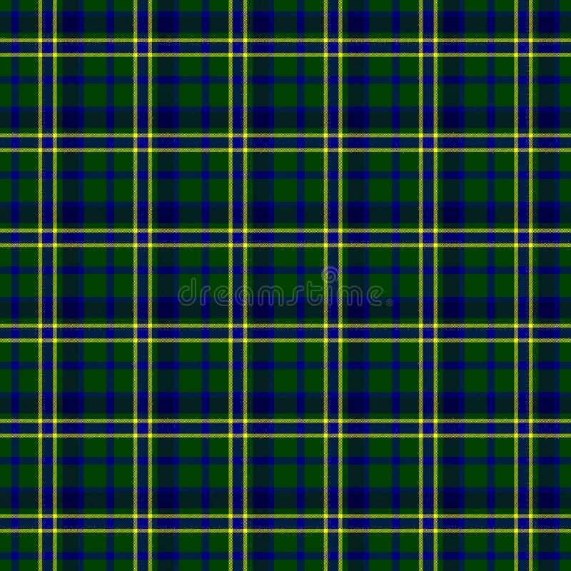 Check scozzese Tartan Tessuto Materiale-Blu Scuro Giallo Rosso
