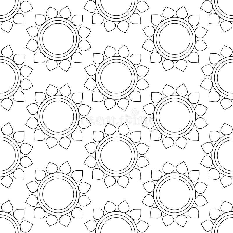 Fondo senza cuciture d'annata astratto con gli ornamenti della mandala royalty illustrazione gratis