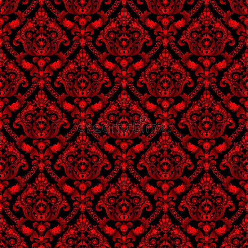 Fondo senza cuciture d'annata brillante rosso del modello illustrazione vettoriale