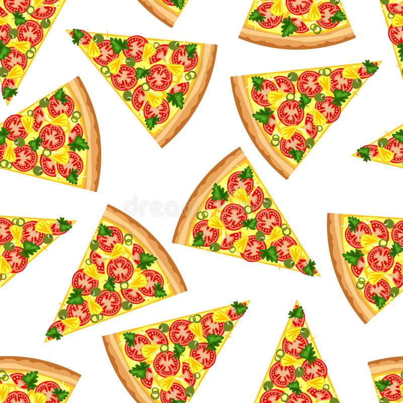 Fondo senza cuciture dalle fette di pizza saporita illustrazione vettoriale