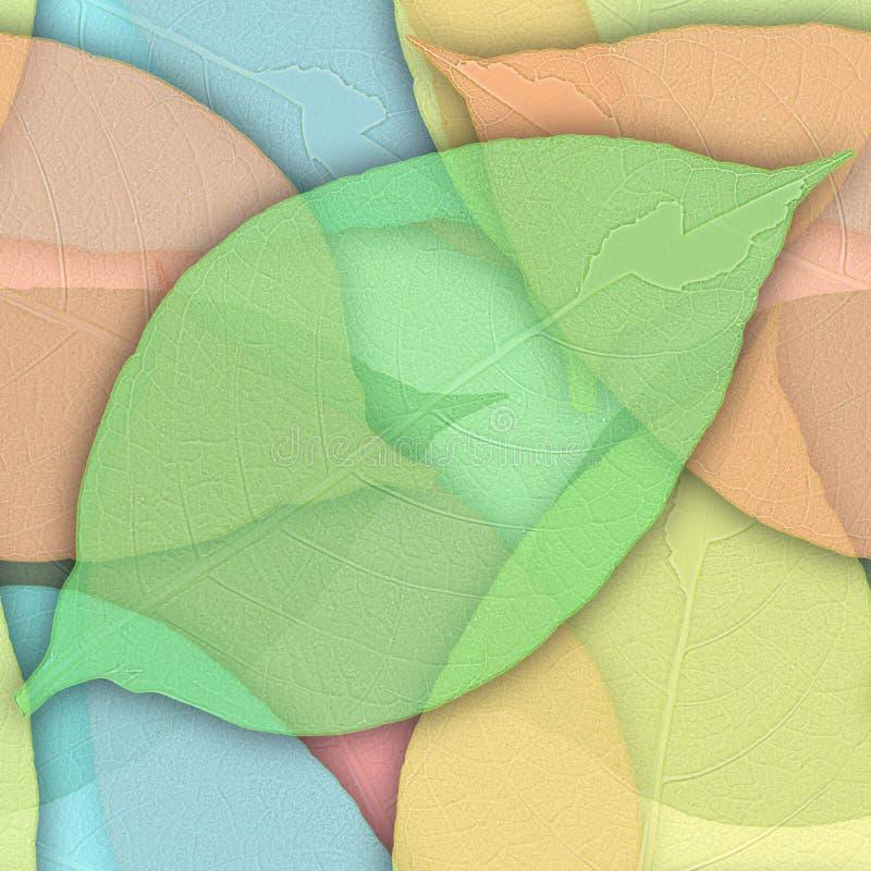 Fondo senza cuciture dalle foglie verdi fotografia stock