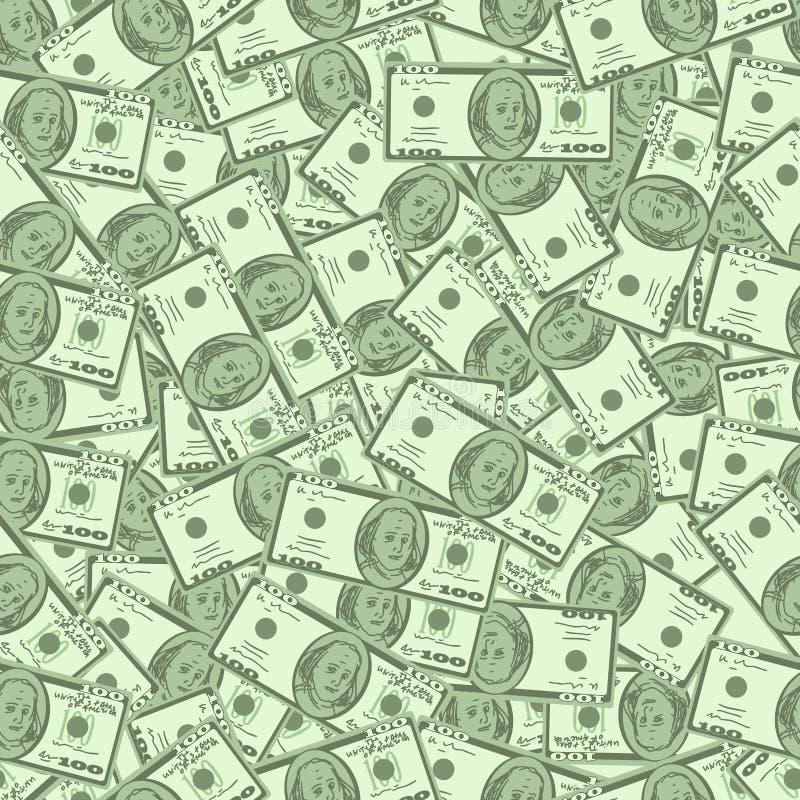 Fondo senza cuciture dei soldi royalty illustrazione gratis