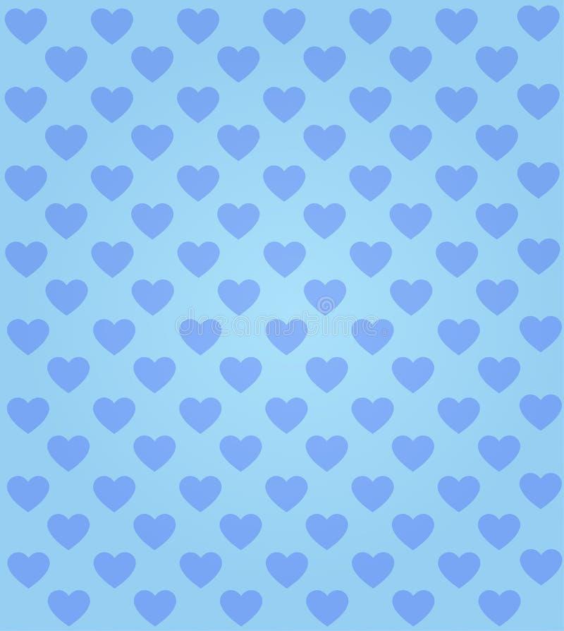 Fondo senza cuciture del blu del modello del cuore illustrazione di stock